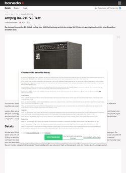 Bonedo.de Ampeg BA-210 V2