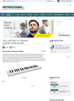 Amazona.de Test: CME XKey 37, USB/MIDI-Controllerkeyboard