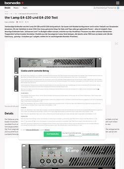 Bonedo.de the t.amp E4-130 und E4-250