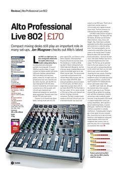 Future Music Alto Professional Live 802