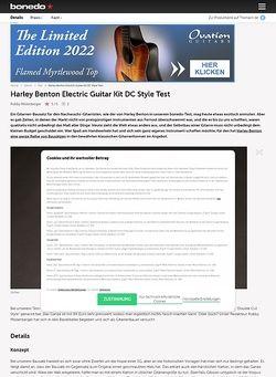 Bonedo.de Harley Benton Electric Guitar Kit DC Style