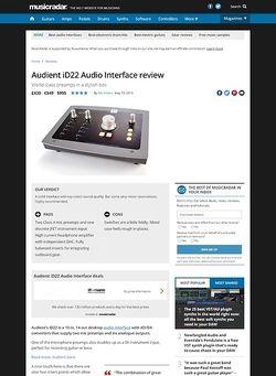 MusicRadar.com Audient iD22