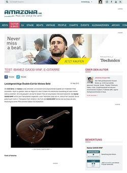 Amazona.de Test: Ibanez GAX30-WNF, E-Gitarre