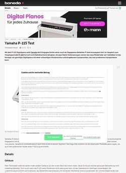 Bonedo.de Yamaha P-115
