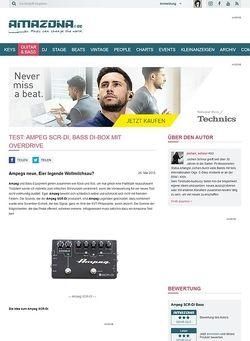 Amazona.de Test: Ampeg SCR-DI, Bass DI-Box mit Overdrive