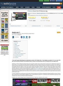 Audiofanzine.com PreSonus Studio One 3 Professional