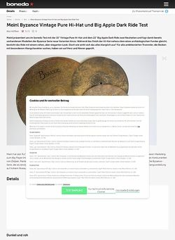 Bonedo.de Meinl Byzance Vintage Pure Hi-Hat und Big Apple Dark Ride