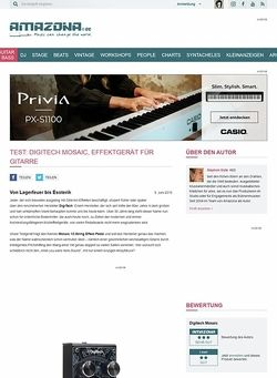 Amazona.de Test: Digitech Mosaic, Effektgerät für Gitarre