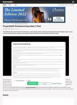 Bonedo.de ProjectSAM Orchestral Essentials 2