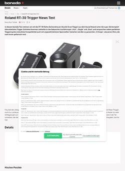 Bonedo.de Roland RT-30 Trigger