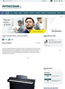 Amazona.de Test: Kawai CN14, Digitalpiano