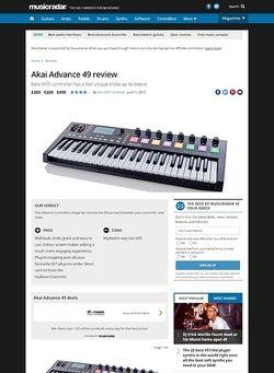 MusicRadar.com Akai Advance 49