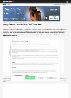 Bonedo.de Harley Benton Custom Line CT-5 Tuner
