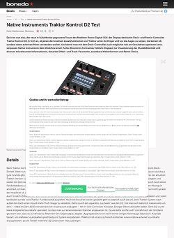 Bonedo.de Native Instruments Traktor Kontrol D2