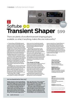 Computer Music Softube Transient Shaper