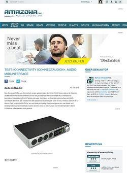 Amazona.de Test: iConnectivity iConnectAUDIO4+, Audio-MIDI-Interface