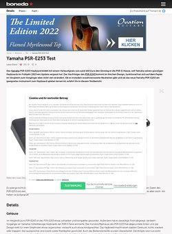 Bonedo.de Yamaha PSR-E253