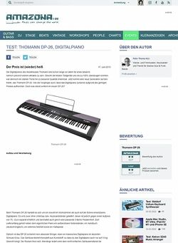 Amazona.de Test: Thomann DP-26, Digitalpiano