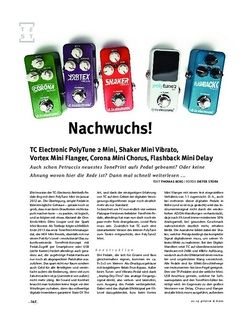 Gitarre & Bass TC Electronic PolyTune 2 Mini, Shaker Vibrato Mini, Vortex Flanger Mini, Corona Chorus Mini, FX-Pedale