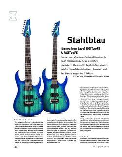 Gitarre & Bass Ibanez Iron Label RGIT20FE & RGIT27FE, E-Gitarren