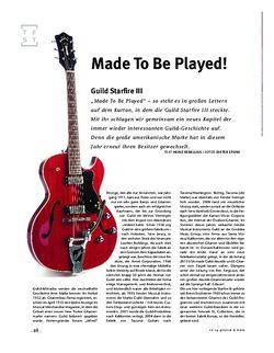 Gitarre & Bass Guild Starfire III, E-Gitarre