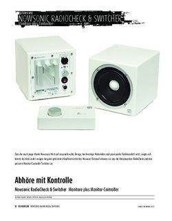 Sound & Recording Nowsonic RadioCheck & Switcher - Monitore plus Monitor-Controller
