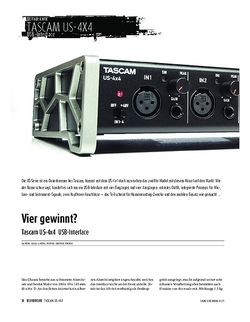 Sound & Recording Tascam US-4x4 - USB-Interface