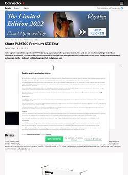 Bonedo.de Shure PSM300 Premium K3E