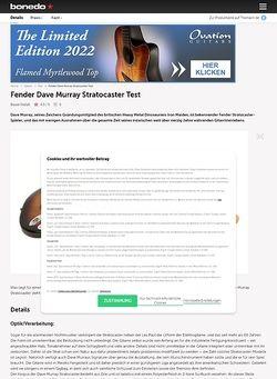 Bonedo.de Fender Dave Murray Stratocaster