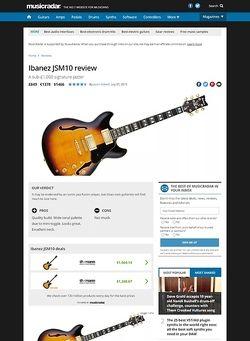 MusicRadar.com Ibanez JSM10