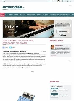 Amazona.de Test: BOSS MO-2 Multi Overtone, Effektgerät für Gitarre