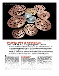 Sticks Paiste PST X Cymbals