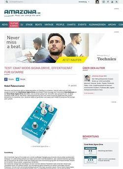 Amazona.de Test: Cmat Mods Sigma Drive, Effektgerät für Gitarre