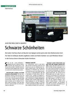Recording Magazin Avid Pro Tools Duet & Quartet