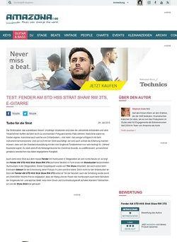 Amazona.de Test: Fender AM STD HSS Strat Shaw RW 3TS, E-Gitarre