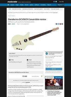 MusicRadar.com Danelectro DCV56CR Convertible