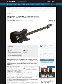 MusicRadar.com Chapman Guitars ML-3 Modern