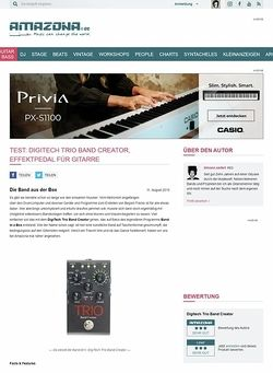 Amazona.de Test: DigiTech Trio Band Creator, Effektpedal für Gitarre