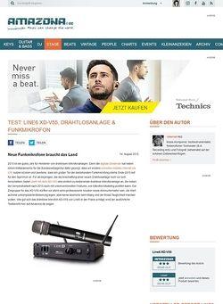 Amazona.de Test: Line6 XD-V55, Funkmikrofon
