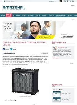 Amazona.de Test: Roland Cube-80GX, Verstärker für E-Gitarre