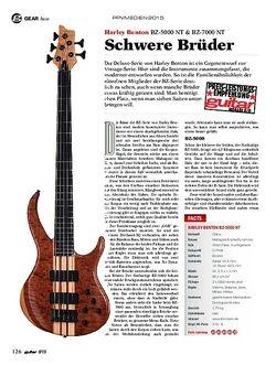 Guitar Harley Benton BZ-5000 NT & BZ-7000 NT