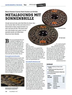 Drumheads Meinl Classics Custom Dark Crashes und Hi-Hat