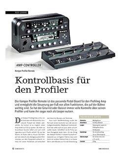 Soundcheck Kemper Remote