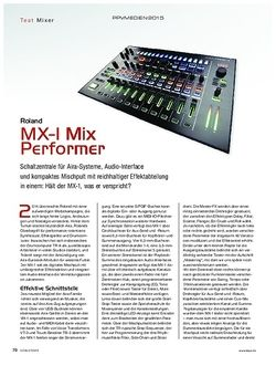 KEYS Roland MX-1 Mix Performer