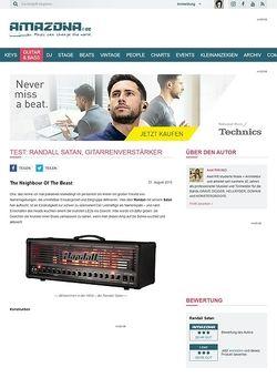 Amazona.de Test: Randall Satan, Gitarrenverstärker