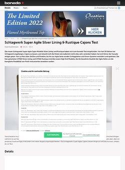 Bonedo.de Schlagwerk Super Agile Silver Lining & Rustique Cajons