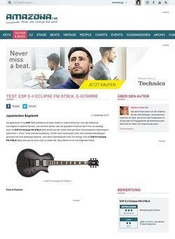 Amazona.de Test: ESP E-II Eclipse FM STBLK, E-Gitarre