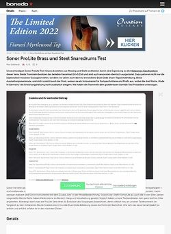 Bonedo.de Sonor ProLite Brass und Steel Snaredrums