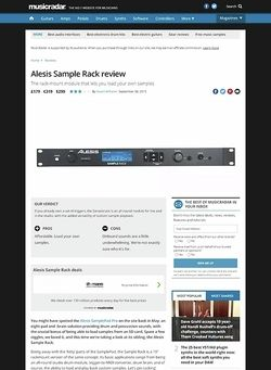 MusicRadar.com Alesis Sample Rack