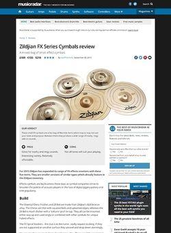 MusicRadar.com Zildjian FX Series Cymbals